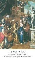 S. AGATA V. E M. - Caltanissetta - M - PR - Mm. 59 X 97 - Religione & Esoterismo