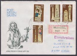 """2853/6 """"Postmeilensäulen"""", Satz-R-Brief Mit Plattenfehler 2853 II - DDR"""
