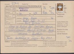"""2868, EF Auf SB-Telegramm """"Liegau-Augustusbad"""", 5.8.85 - DDR"""