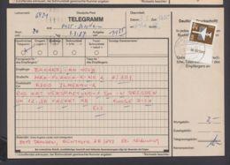 """2868, Randstück Als EF Auf Telegramm """"Dresden"""", 3.3.87 - DDR"""