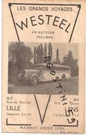 Voyages WESTEEL Autocar Pullman Lille Lens - Publicités