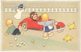 Cpa Fantaisie : Enfants, Automobile, Angelot Policier - Fantaisies