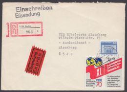 3049 I, Plattenfehler In MiF Auf R-Eilboten-Brief - DDR