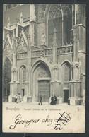+++ CPA - BRUSSEL - BRUXELLES - Portail Latéral De La Cathédrale   // - Bruxelles-ville