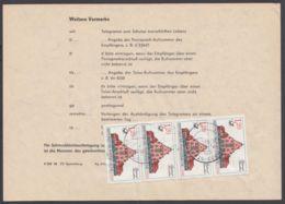 """3070, MeF Mit 4 Werten Auf Telegramm """"Karl-Marx-Stadt"""", 27.9.89 - DDR"""