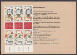 """3086/7 """"Gewerkschaft"""", MeF Mit 3 ZD Auf Telegramm """"Dresden"""", 24.6.87 - Zusammendrucke"""