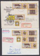 3118/9, 2 R-Briefe Mit Versch. ZD-Kombinationen, Dabei Auch Plattenfehler 3119 I - DDR