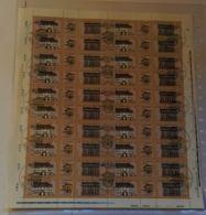 3118/9, Kompletter Bogen Mit Druckvermerk Und Plattenfehler 3119 I, Gestempelt - DDR