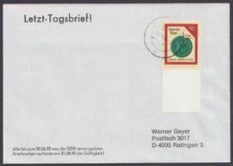 """3159 """"Siegel"""", EF Mit Leerfeld Unten, Letzttagsbrief - DDR"""