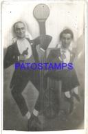 106333 ARGENTINA BUENOS AIRES PARQUE JAPONES TWO MAN DRUNK CURTAIN TELON PHOTO NO POSTAL POSTCARD - Photographie