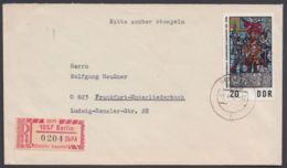 """SbPA-R-Zettel , 1 Ax """"Berlin 1057"""" Auf Brief Mit Einlieferungsschein - DDR"""