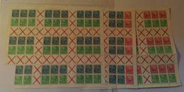 """MHB 1/3 """"5-Jahr-Plan"""", Alle 3 Bogen, Z.T. Leicht Angetrennt, 1ZD Fehlt, Gut Für ZD-Kombinationen, ** - DDR"""