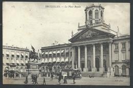 +++ CPA - BRUSSEL - BRUXELLES - La Place Royale - Tram   // - Places, Squares