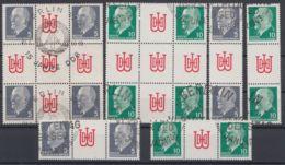 """845/6 """"Ulbricht"""", Alle 4 ZD Und Herzstücke Aus MHB 10/11, Gestempelt - Zusammendrucke"""
