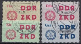"""ZKD : 32/4, 36, Alle Stempel """"ungültig"""" - DDR"""