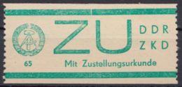 ZKD : ZU 1, Gut Gezähnt, ** - DDR