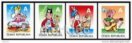 Czech Republic - 2011 - Ctyrlistek Comics Heroes - Mint Set Of Booklet Stamps - Czech Republic