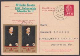 """P 64 II, """"Pieck"""", Bedarfskarte Mit Zusatzfrankatur - DDR"""
