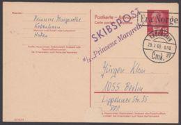 P 65 A, Mit Norweg. Schiffspost Retour, Kein Text - DDR