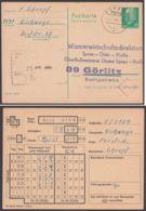 """P 75, Zudruck """"Wasserwirtschaft Görlitz"""", Bedarf """"Döbeln"""", 22.4.68 - DDR"""