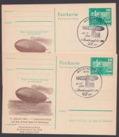 """P 79 C 170 C + D """"Zeppelinlandung Meiningen"""", 2 Versch. Bessere Varianten, Je Pass. Sst. - DDR"""