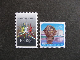 O.N.U. Office De Genève: Paire N° 152 Et N°153, Neufs XX. - Geneva - United Nations Office