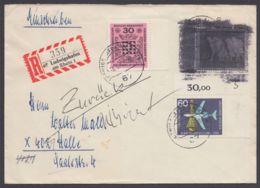 """Postkrieg : 479 Pk I A, R-Brief Mit """"zurück""""-Vermerk Und Schwärzung - BRD"""