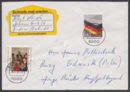 "Postkrieg : 1265, Saubere MiF Nach Polen, Violetter ""retour""-L4 - BRD"