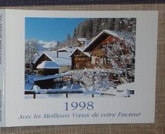 Petit Calendrier Poche 1998 Lavigne PTT Facteur  La Poste Morzine Haute Savoie - Petit Format : 1991-00