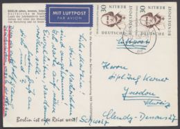 170, MeF Mit 2 Werten, Luftpost-AK In Die Schweiz - Berlin (West)