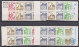 """MH 10/3 """"Burgen & Schlösser"""", 4 Versch. Komplette MH, ** - Berlin (West)"""