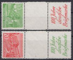 SKZ 1 B, 2 B, Je Untere Marke Fehlend, ** - Berlin (West)