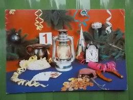 KOV 8-83 - New Year, Bonne Annee, Money, Argent, Lantern, Lanterne, Playing Cards, Cartes à Jouer, Horseshoe - Año Nuevo