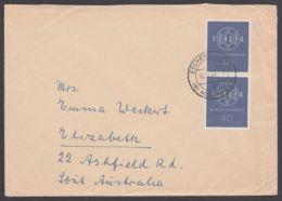 321, MeF Mit 2 Werten, Bedarfsbrief Nach Australien - BRD