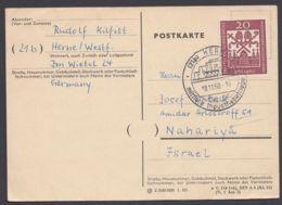 336, EF Auf Bedarfskarte Nach Israel - Briefe U. Dokumente