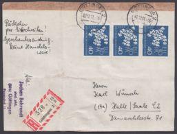 368, MeF Mit 3 Werten Auf R-Päckchen In Die DDR - BRD