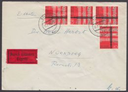 380, MeF Mit 4 Werten, Bedarfs-Eilboten, 1962 - BRD