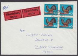 467, MeF Mit 4 Werten Auf Eilboten In Die Schweiz - Briefe U. Dokumente