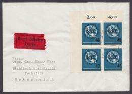 476, ER-4er Block Als MeF Auf Eilboten Nach Österreich - Briefe U. Dokumente
