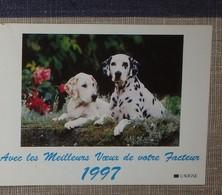 Petit Calendrier Poche 1997 Lavigne PTT Facteur  La Poste Chien Dalmatien - Petit Format : 1991-00