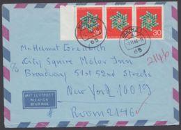570, MeF Mit 3 Werten Auf Luftpost In Die USA - BRD