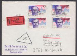 895, MeF Mit 4 Werten Auf Bedarfs-Wertbrief - BRD