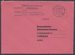 """""""Wahlbrief"""", Roter Umschlag """"Manebach"""", 30.11.90 - BRD"""