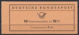 """MH 6 Fa """"Heuß"""" Heftchenblatt Mit Grünem """"L"""" - BRD"""