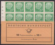 "MHBl. 10 G ""Heuß"", Schwarze Bogenlaufnummer, ** - BRD"