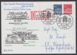 """PU 45 D 2/01 """"Eisenbahnromantik"""", Mit Pass. Sonder-R-Zettel Gelaufen - BRD"""