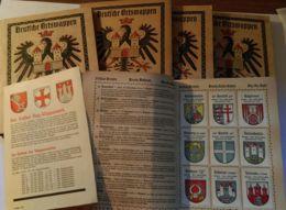"""""""Kaffee Hag"""", Wappenwerk, 5 Bände Und Beschreibungsbroschüre, Gut Erhalten, Günstig! - Albums & Catalogues"""