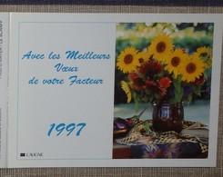 Petit Calendrier Poche 1997 Lavigne PTT Facteur  La Poste Fleurs Tournesol Souci Bleuet - Petit Format : 1991-00