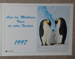 Petit Calendrier Poche 1997 Lavigne PTT Facteur  La Poste Manchot Empereur - Petit Format : 1991-00