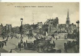 59 - LILLE / PLACE DU THEATRE - ENSEMBLE DES RUINES - Lille